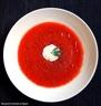 Gazpacho tomates / figues et tomate farcie au nougat