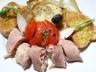 Jambon roule au chevre et radis