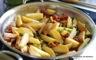 Poêlée de pommes de terre au chorizo et petits pois