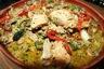 Poulet aux légumes au curry vert et lait de coco