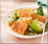 Raclette Panée et sa Salade Trois Couleurs
