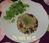 Riz complet aux tomates séchées, olives noires et amandes effilées