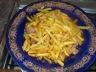Rôti de filet de dinde à la cocotte aux frites et sa salade