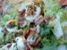 Salade aux noix / lardons et oeufs mollets