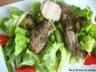Salade de foie gras et de magret de canard mariné à la truffe
