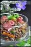 Salade de lentilles au magret de canard fumé tranché
