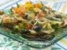 Salade de pâtes, sauce aux tomates séchées