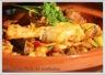 Tajine de poulet aux légumes et abricots secs