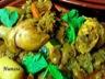 Tajine veau et poulet, fèves, pois et légumes