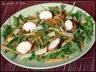 Blancs de poulet marinés au miel en salade
