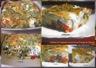 Clafoutis de courgettes et poivron au fromage de chèvre et olives noires