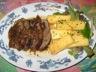 Magret de canard laqué au coca cola et frites de polenta