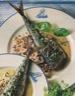 Maquereaux aux herbes fines, sauce moutarde au poivre vert et fleur de sel de guérande