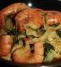 Nouilles sautées aux crevettes et pak choï, sauce curry matsaman