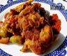 Osso bucco de dinde aux olives, champignons et paprika