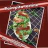 Pain pita tartine au roquefort, poires, jambon cru & roquette