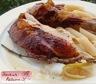 Poulet rôti au miel, au citron et à la lavande