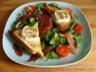 Salade au jambon sec et au fromage de chèvre