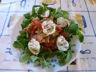 Salade composée au chèvre chaud