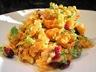 Salade de lentilles corail, coco cranberries aux herbes