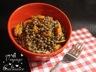 Salade de lentilles vertes du puy à la moutarde à l'ancienne