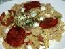 Salade de pates aux courgettes / chorizo / feta