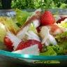 Salade de raie et fraises au balsamique