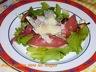 Salade magret séché de canard et shitakés