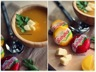 Soupe de potiron, pommes de terre et babybel