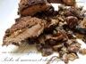 Suprême de pintade en croute de cèpes poêlée de marrons et champignons