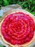 Tarte aux fraises sur crème d'amandes