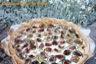 Tarte courgettes, lait ribot et gorgonzola