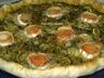 Tarte salée courgettes / pesto / chevre
