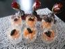 Verrine fraîche de crabe, crevette et saumon fumé