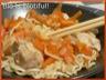 Wok de nouilles chinoises au poulet sauce au gingembre