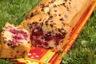 Cake aux mûres, amande et pépites de chocolat