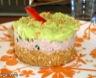 Cheese cake a la creme de thon et mousse d'avocat
