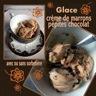 Glace à la crème de marrons & pépites de chocolat