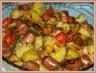 Meli mélo de légumes et saucisses de Francfort