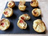 Mini quiche au boursin tomates ou chorizo