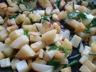 Omelette pommes de terre oignons