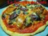 Pizza au magret de canard séché et bloc de foie gras