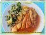 Queues de lotte, poêlée de légumes et coulis de tomates