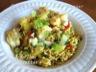 Riz frit thai aux crevettes et ananas