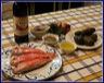 Rosace de rouget-barbet mi-cuit aux aromates, écrasé de pomme de terre vitelotte, émulsion de foie de rouget à l'irouléguy
