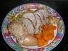Roti de porc et ses légumes a la cocotte