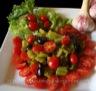 Salade de poivrons grillés à l'ail rose