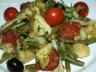 Salade de pommes de terre et légumes au chorizo