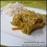 Sauté de porc (ou de veau) au curry, carotte & poireau