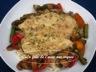 Suprêmes de poulet sauce crémeuse sur sauté de poivron, champignons et asperges